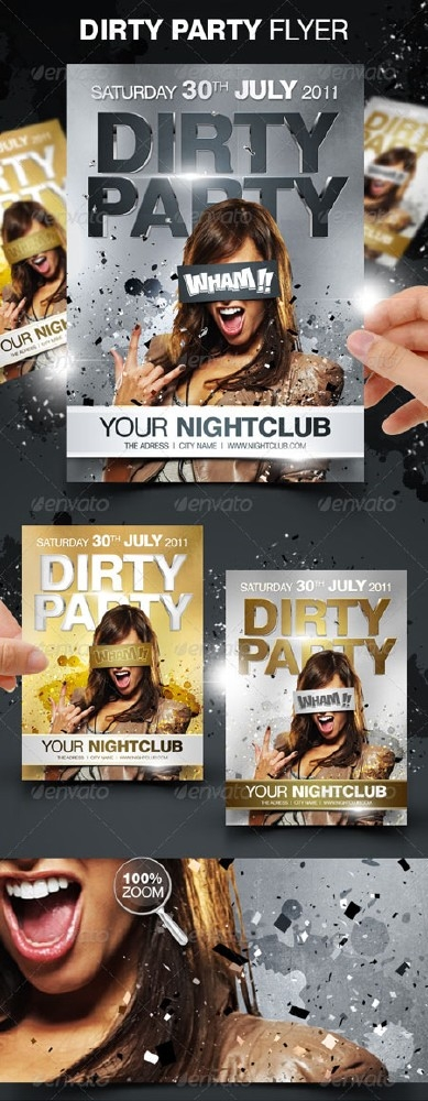 GraphicRiver Dirty Party Flyer