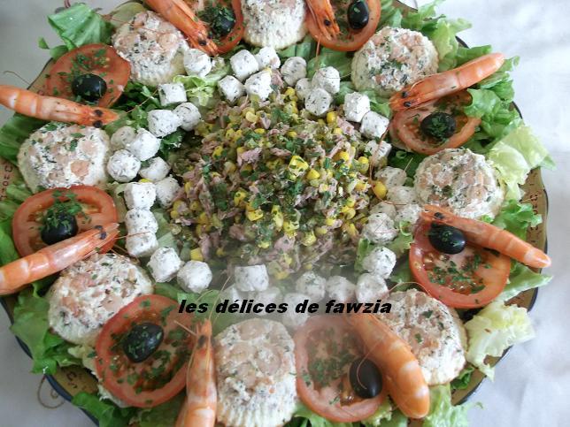 Decoration salade variee - Salade verte composee ...