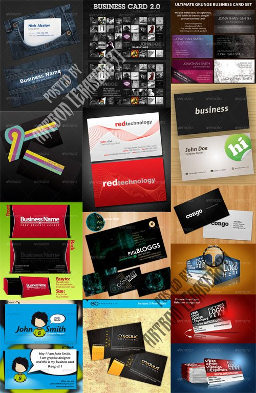 GraphicRiver Business Cards Pack (Updated)